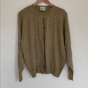Vtg Laura Ashley 💯 wool cardigan-XL